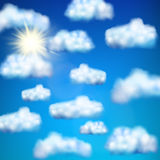 Set of clouds. EPS 10 Royalty Free Stock Image