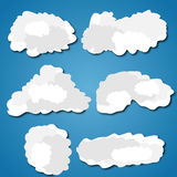 A set of clouds. Flat design,  illustration Stock Photography