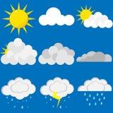 Set of clouds. Flat design,  illustration Stock Photo