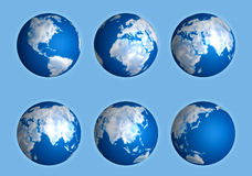 Set of Clouds globe Royalty Free Stock Photography