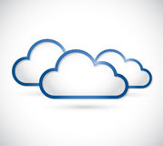 Set of clouds illustration design Stock Photos