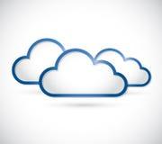Set of clouds illustration design Stock Photos