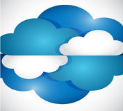 Set of clouds illustration design Stock Photography