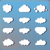 Set of clouds in the sky icons. Illustration Royalty Free Stock Photos