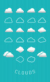 Set of Clouds. Vector illustration icon Stock Photography