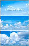 Set with cloudy sky Royalty Free Stock Photos