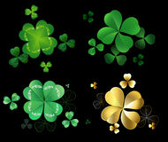 Set of clover Stock Photo