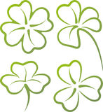 Set of clover leaves Stock Image