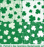Clover seamless patterns Royalty Free Stock Photo