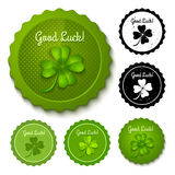 Set clover stamps Royalty Free Stock Image