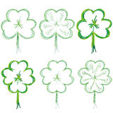 Set of clovers Royalty Free Stock Photography