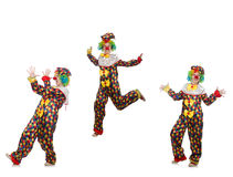 The set of clown photos on white Royalty Free Stock Images