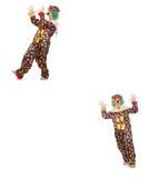 The set of clown photos on white Stock Image