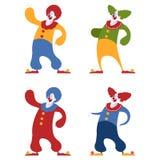 Set of clowns Stock Photos