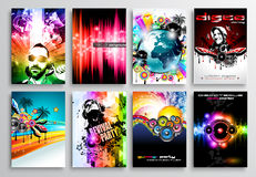 Set of Club Flyer design, Party poster templates Stock Photography