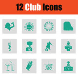 Set of club icons Stock Images