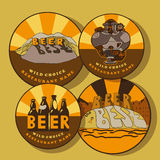 Set of coasters for beer glass. Royalty Free Stock Image