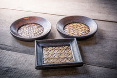 Set of Coasters and Platemat Stock Image