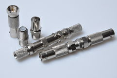 A set of coaxial connectors Stock Photography