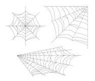 Set cobweb. Vector spider web. Design elements isolated on light background. Eps vector illustration