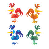 Set of cocks isolated on white background. Royalty Free Stock Photos