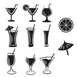 Set of Cocktail vector icons Stock Image