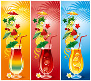 Set of cocktails Stock Photos