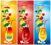 Set Cocktails Stockfotos