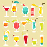 Set of cocktails. Vector illustration Royalty Free Stock Photo