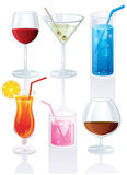Set of cocktails. Vector illustration Royalty Free Stock Image