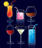 Set of cocktails. Vector illustration Royalty Free Stock Images