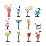 Set of cocktails. Royalty Free Stock Photography