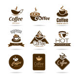 Set of coffee badges and icon Royalty Free Stock Photo