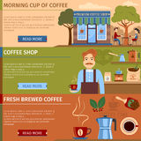 Set Of Coffee Banners Royalty Free Stock Image