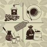 Set of coffee Royalty Free Stock Image