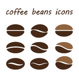 Set coffee beans. Coffee beans on white background. vector illusration Vector Illustration