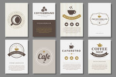 Set of coffee brochures in vintage style Stock Image