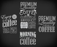 Set of coffee, cafe label, set of typographic Royalty Free Stock Image