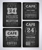 Set of coffee, cafe label, set of typographic Royalty Free Stock Images