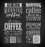 Set of coffee, cafe label, set of typographic Stock Image
