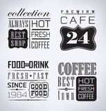 Set of coffee, cafe label, set of typographic Royalty Free Stock Photography