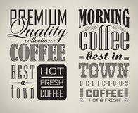Set of coffee , cafe typographic elements Stock Image