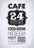 Set of coffee , cafe typographic elements Stock Images