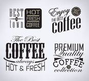 Set of coffee , cafe typographic elements Royalty Free Stock Photos