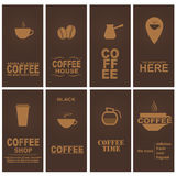 Set coffee cards Royalty Free Stock Photo