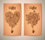 Set of coffee concept design Stock Photos