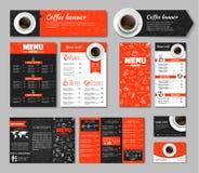 Set coffee corporate identity royalty free illustration