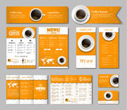 Set coffee corporate identity Royalty Free Stock Photography