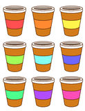 A set of coffee cups Royalty Free Stock Photos