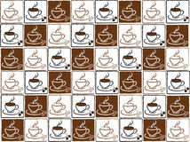 Set of coffee cups Royalty Free Stock Photos